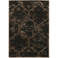 Linon Vintage Collection Marrakech Brown Oriental Rug (9' x 12')