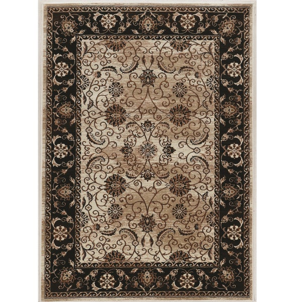 Shop Linon Vintage Collection Isfahan Brown Rug (8' X 10