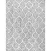 "Paris Shag Hand-Woven Microfiber & Cotton Shaggy Rug (9' 0"" X 12' 0"")"