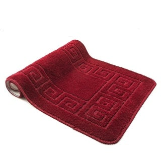 Burgundy 3-Piece Bath Rug Set (includes bath rug, contour and lid cover)
