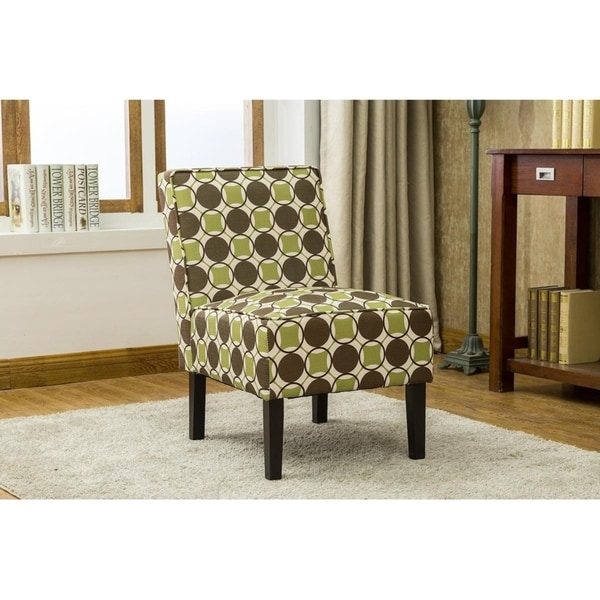 Best Master Furniture Green Brown Fabric Accent Chair