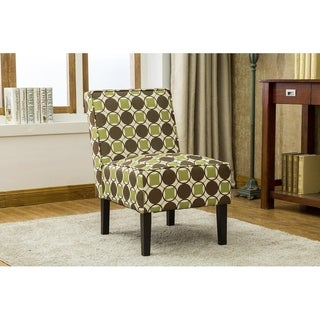 Best Master Furniture Green/Brown Twill Fabric Abstract Accent Chair