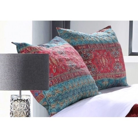 Dakota Sunset Quilted Pillow Sham Set (Set of Two)