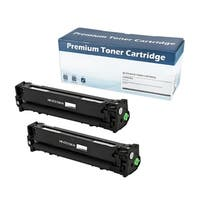 HP 131X (CF210X) Compatible Toner Cartridge (Black) (Set of 2)