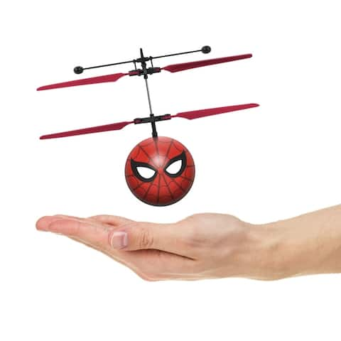 World Tech Toys Marvel Spider-Man Homecoming IR UFO Ball Red Plastic Helicopter