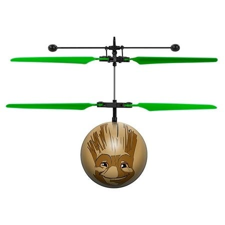 World Tech Toys Marvel Guardians of the Galaxy Baby Groot IR UFO Ball Helicopter