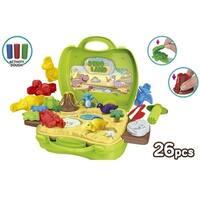World Tech Toys Activity Dough Dinosaur 26 Piece Suitcase Playset