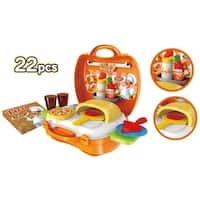 World Tech Toys Pizzeria 22 Piece Suitcase Playset