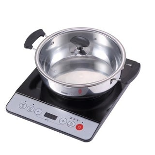 1500W Induction cooktop cooker with stainless steel pot Table Hotpot