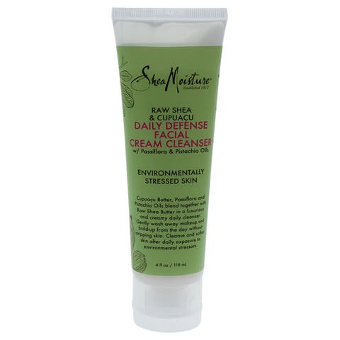 SheaMoisture 4-ounce Raw Shea & Cupuacu Daily Defense Facial Cream Cleanser