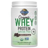 Garden of Life Chocolate Organic Grass Fed Whey Protein (12 Servings)