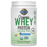 Garden of Life Vanilla Organic Grass Fed Whey Protein (12 Servings)