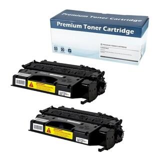 HP 05X (CE505X) Compatible Toner Cartridge (Black) (Set of 2) - Black