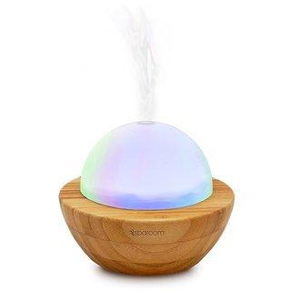 SpaRoom Aroma Globe Glass & Bamboo Essential Oil Diffuser