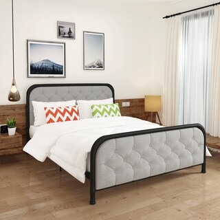 Caylynn Upholstered Tufted Fabric Queen-Sized Bed Frame by Christopher Knight Home (3 options available)