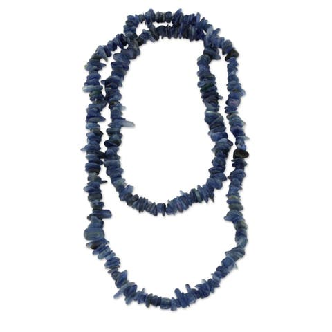Handmade Kyanite 'Deep Infatuation' Necklace (Brazil)