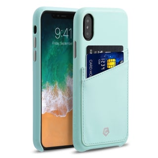 "Cobble Pro Premium Handcrafted Leather Case Cover with Credit Card Slot Holder For Apple iPhone XS/ iPhone X 5.8"" 5.8-inch"