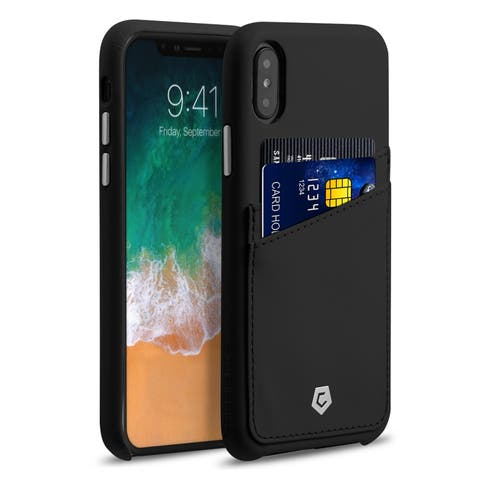 """Cobble Pro Premium Handcrafted Leather Case Cover with Credit Card Slot Holder For Apple iPhone XS/ iPhone X 5.8"""" 5.8-inch"""