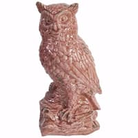 Owl Figurine In Distressed Finish