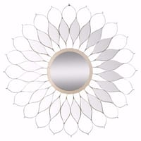 Artistically Designed Sturdy Skyler Mirror - Gold