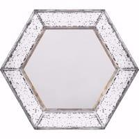 Intriguing Herrick Hexagonal Mirror - White