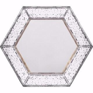 Intriguing Herrick Hexagonal Mirror - White - N/A