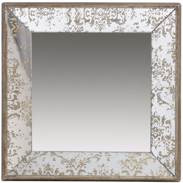 Winsome Dorthea Square Hanging Mirror - Brown