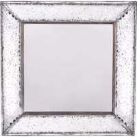 Stylish Marion Square Mirror, - White