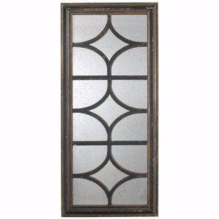 Rustic and Contemporary Glister Rectangular Mirror - Black