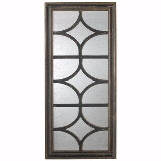 Rustic and Contemporary Glister Rectangular Mirror - Black - N/A