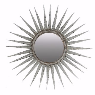 Distressed Sun inspired Mirror - gray