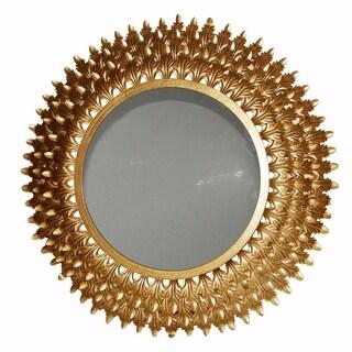 Benzara Classic and Lustrous Veneto Goldtone Wall Mirror