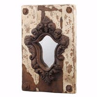 Elegant Old style Acantha Wall Mirror - ivory and brown