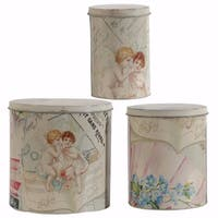 Printed Decorative Tin Boxes - Set of 3