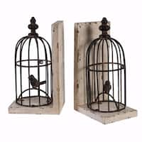 Attractive Bird cage Bookends-Set Of Two