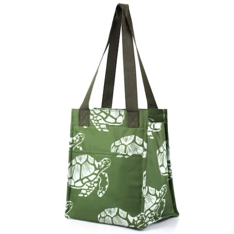 Zodaca Turtle Print Insulated Shoulder Lunch Tote Bag for Camping