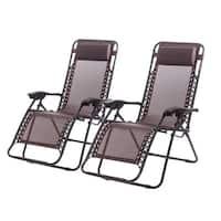 Zero Gravity Chairs Set Of 2 Lounge Patio Chairs Outdoor Yard Beach