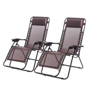 Zero Gravity Chairs Case Of 4 Lounge Patio Chairs Outdoor Yard Beach