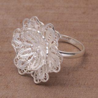 Handmade Sterling Silver 'Waribang Cloud' Ring (Indonesia)