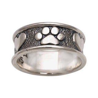 Handmade Sterling Silver 'Loving Paws' Ring (Indonesia)