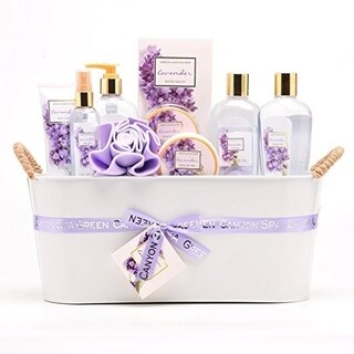 Green Canyon Spa Luxury Gift Basket Set in Lavender