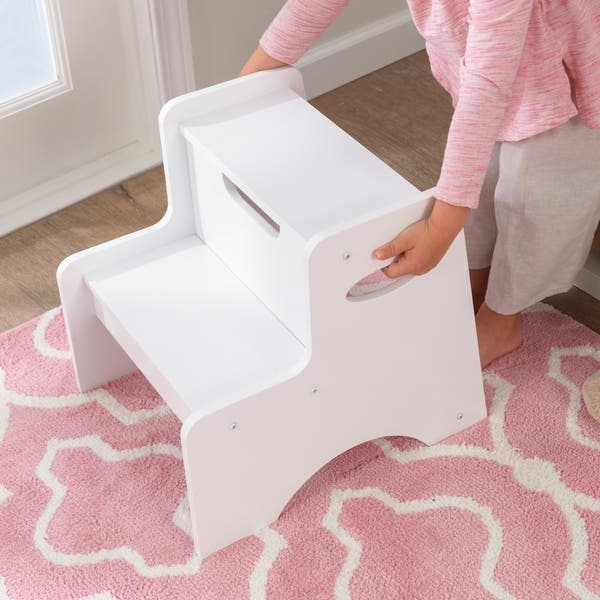 Astounding Shop Kidkraft Two Step Stool White Free Shipping Today Gmtry Best Dining Table And Chair Ideas Images Gmtryco