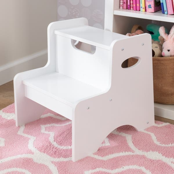 Enjoyable Shop Kidkraft Two Step Stool White Free Shipping Today Gmtry Best Dining Table And Chair Ideas Images Gmtryco