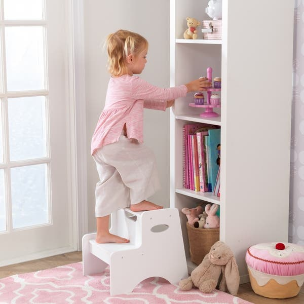 Astonishing Shop Kidkraft Two Step Stool White Free Shipping Today Gmtry Best Dining Table And Chair Ideas Images Gmtryco