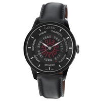Gevril Men's Automatic Black Leather Strap Watch