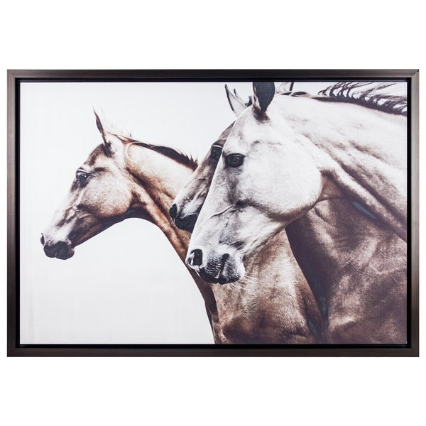 Shop Three Horses Black and White Sepia Photo Print with Matte ...