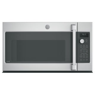 GE Café Series 1.7 Cu. Ft. Convection Over-the-Range Microwave Oven - Silver