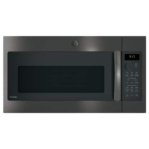 GE Profile Series 1.7 Cu. Ft. Convection Over-the-Range Microwave Oven - Stainless Steel