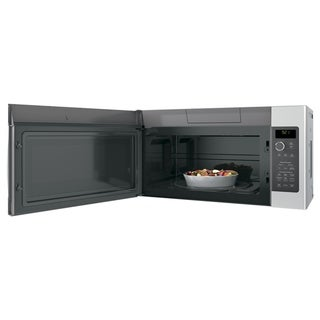 GE Profile Series 2.1 Cu. Ft. Over-the-Range Sensor Microwave Oven - Stainless Steel Over 2.0 cf - Clock Display