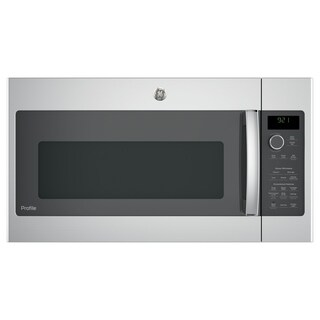 GE Profile Series 2.1 Cu. Ft. Over-the-Range Sensor Microwave Oven - Stainless Steel